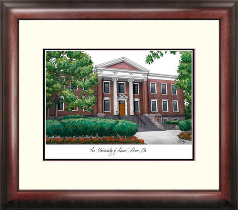 University of Akron Alumnus Framed Lithograph