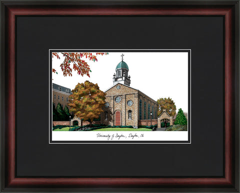 University of Dayton Academic Framed Lithograph