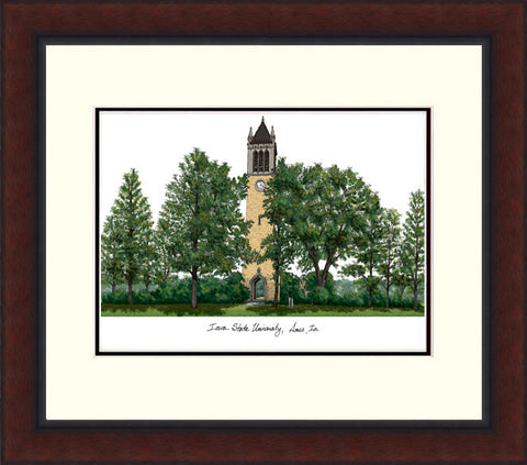 Iowa State University Legacy Alumnus Framed Lithograph