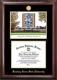 Bowling Green State 11w x 8.5h Gold Embossed Diploma Frame with Campus Images Lithograph