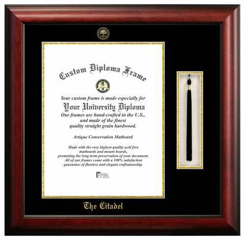 The Citadel 16w x 20h Tassel Box and Diploma Frame