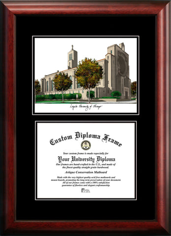 Loyola University Chicago 11w x 8.5h Diplomate Diploma Frame