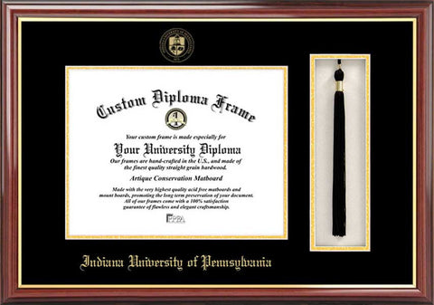 Indiana Univ, PA 11w x 8.5h Tassel Box and Diploma Frame