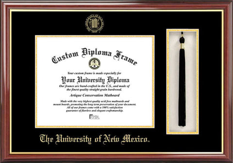University of New Mexico 11w x 8.5h Tassel Box and Diploma Frame