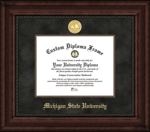 Michigan State 11w x 8.5h Executive Diploma Frame