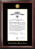 Marine Certificate Frame with Gold Medallion