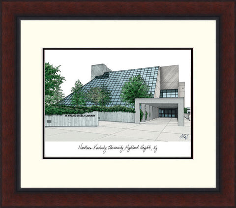 Northern Kentucky University Legacy Alumnus Framed Lithograph