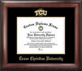 Texas Christian University 11w x 8.5h Gold Embossed Diploma Frame