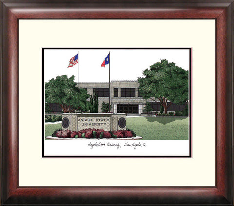Angelo State University Alumnus Framed Lithograph