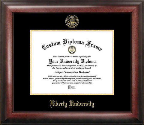 Liberty University 11w x 8.5h Gold Embossed Diploma Frame