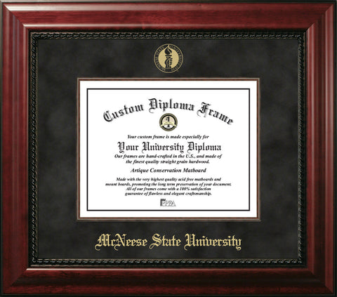 McNeese State University 11w x 8.5h Executive Diploma Frame