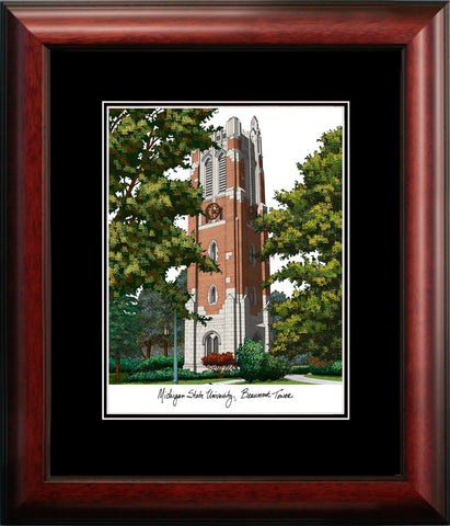 Michigan State University, Beaumont Hall  Academic Framed Lithograph