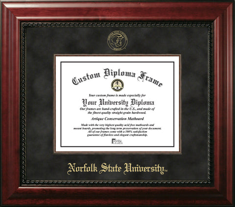 Norfolk State University 11w x 8.5h Executive Diploma Frame