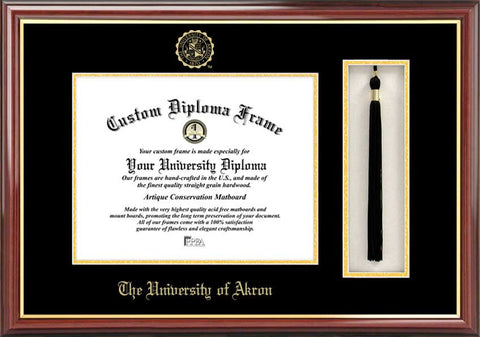 University of Akron 11w x 8.5h Tassel Box and Diploma Frame