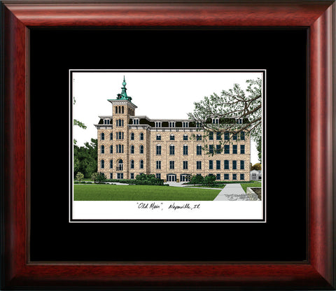 North Central College Academic Framed Lithograph