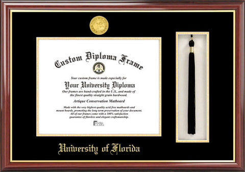 University of Florida,16w x 11.5h Tassel Box and Diploma Frame