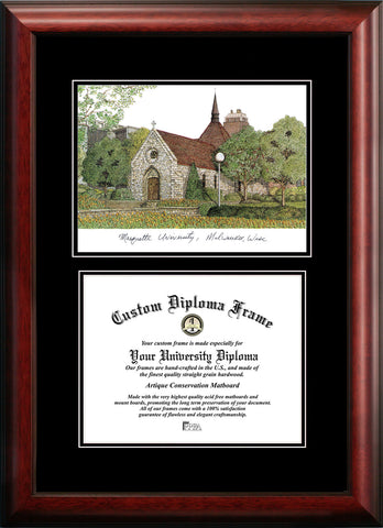 Marquette University 12w x 9h Diplomate Diploma Frame