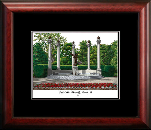 Ball State University 10w x 8h  Academic Framed Lithograph