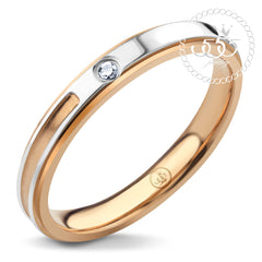 555jewelry Stainless Steel 316L แหวน รุ่น MNC-R001-PG (Pink Gold)