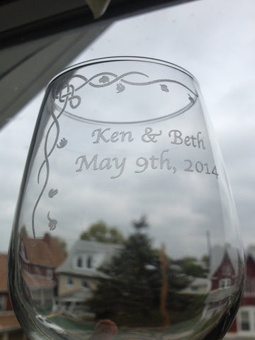 """Ken & Beth, May 9th 2014"" with Celtic Ivy border"