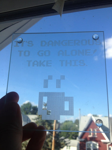 """It's Dangerous to Go Alone!"" - Coaster"