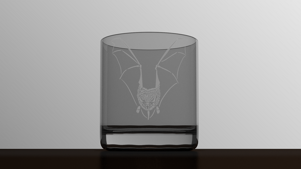 Animals - Bat - Etched Glass