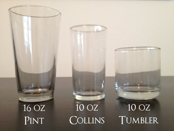 Blank Pint, Collins, and Tumblers