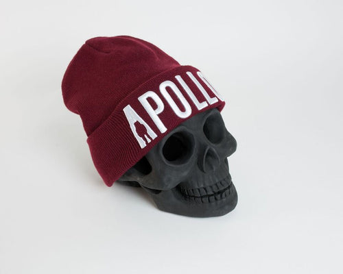 Burgundy Apollo Compton Beanie - Apollo Originals