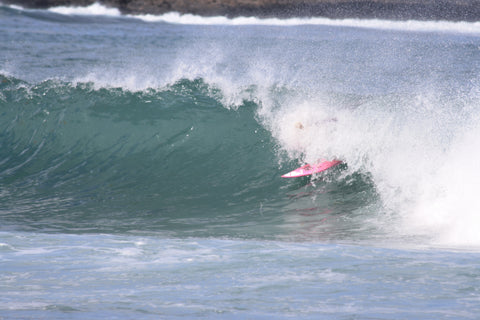 Lucie-Rose Donlan, UK surfer getting a little coverage.