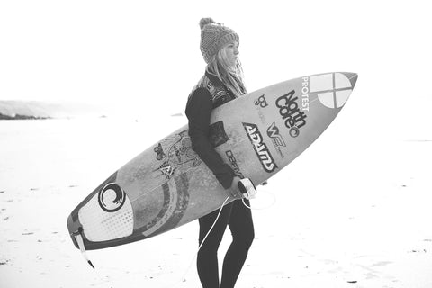 UK surfer Lucie-Rose Donlan, at home in Cornwall.