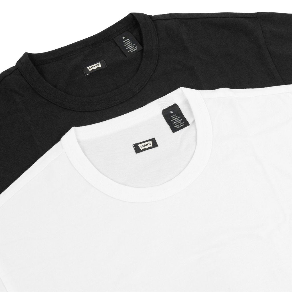 Levi's Skateboarding Skate 2 Pack T-Shirt | Black & White close up