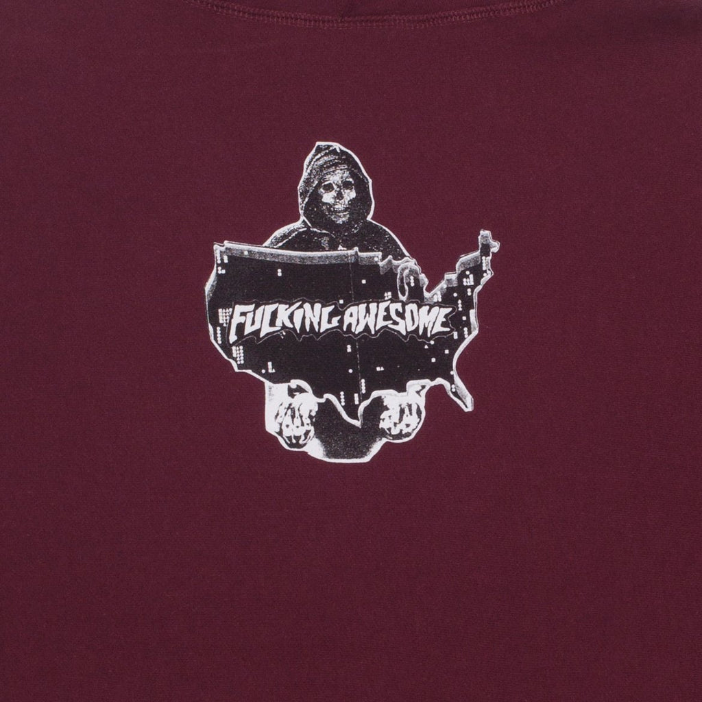 Fucking Awesome Reaper Hoodie | Maroon