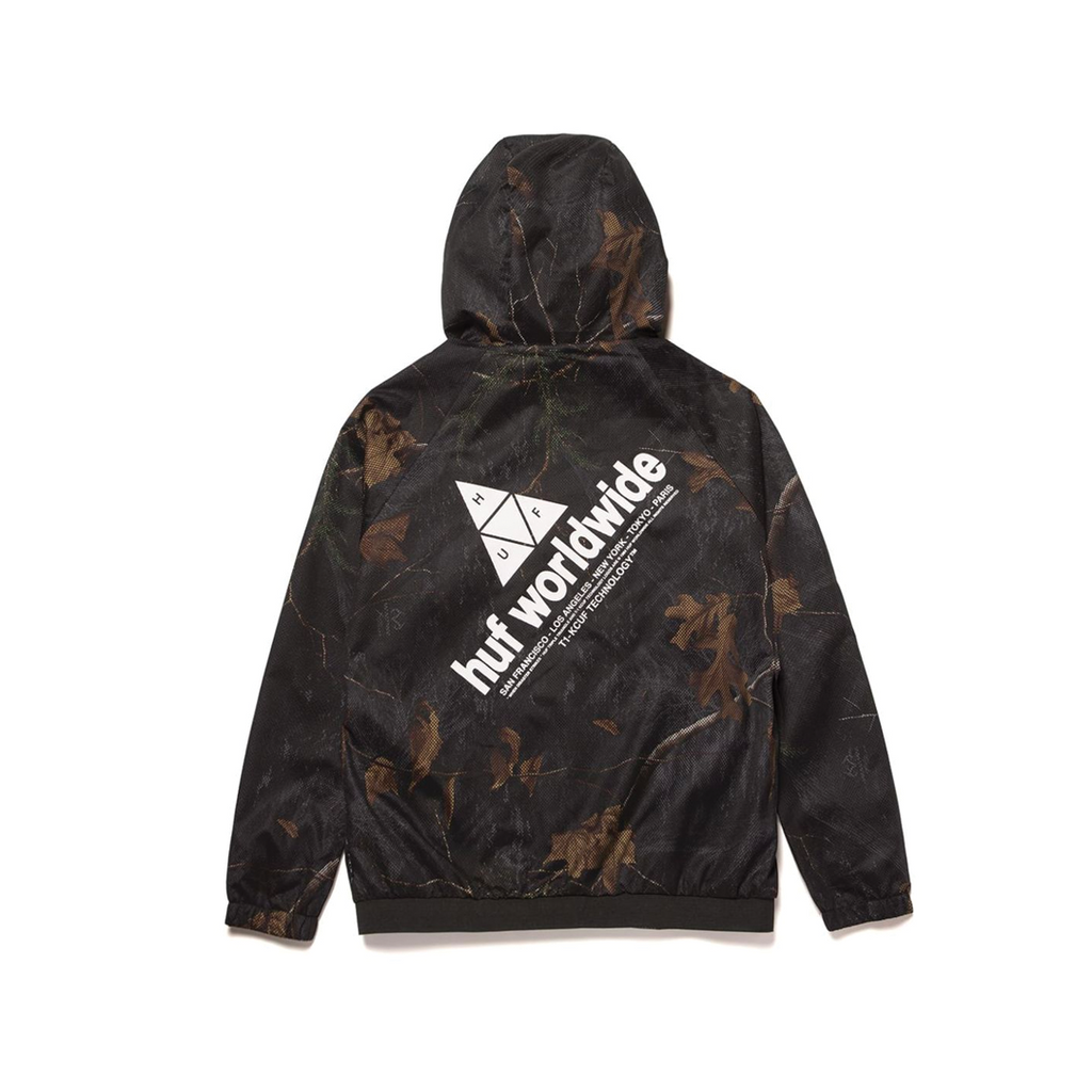 HUF Network Lightweight Jacket | RealTree Black