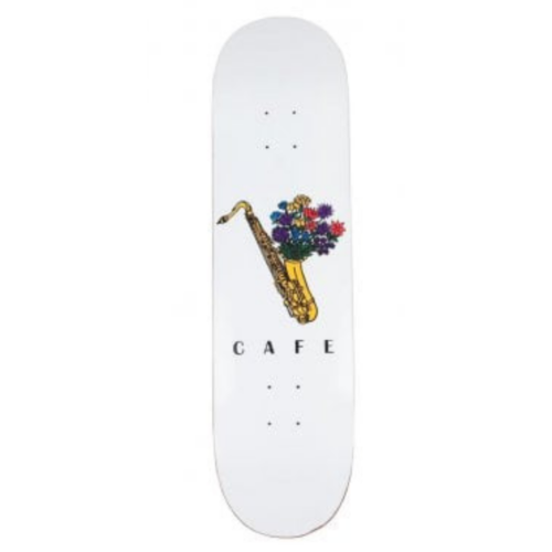 Skateboard Cafe Sax Flowers Deck White | 8.125