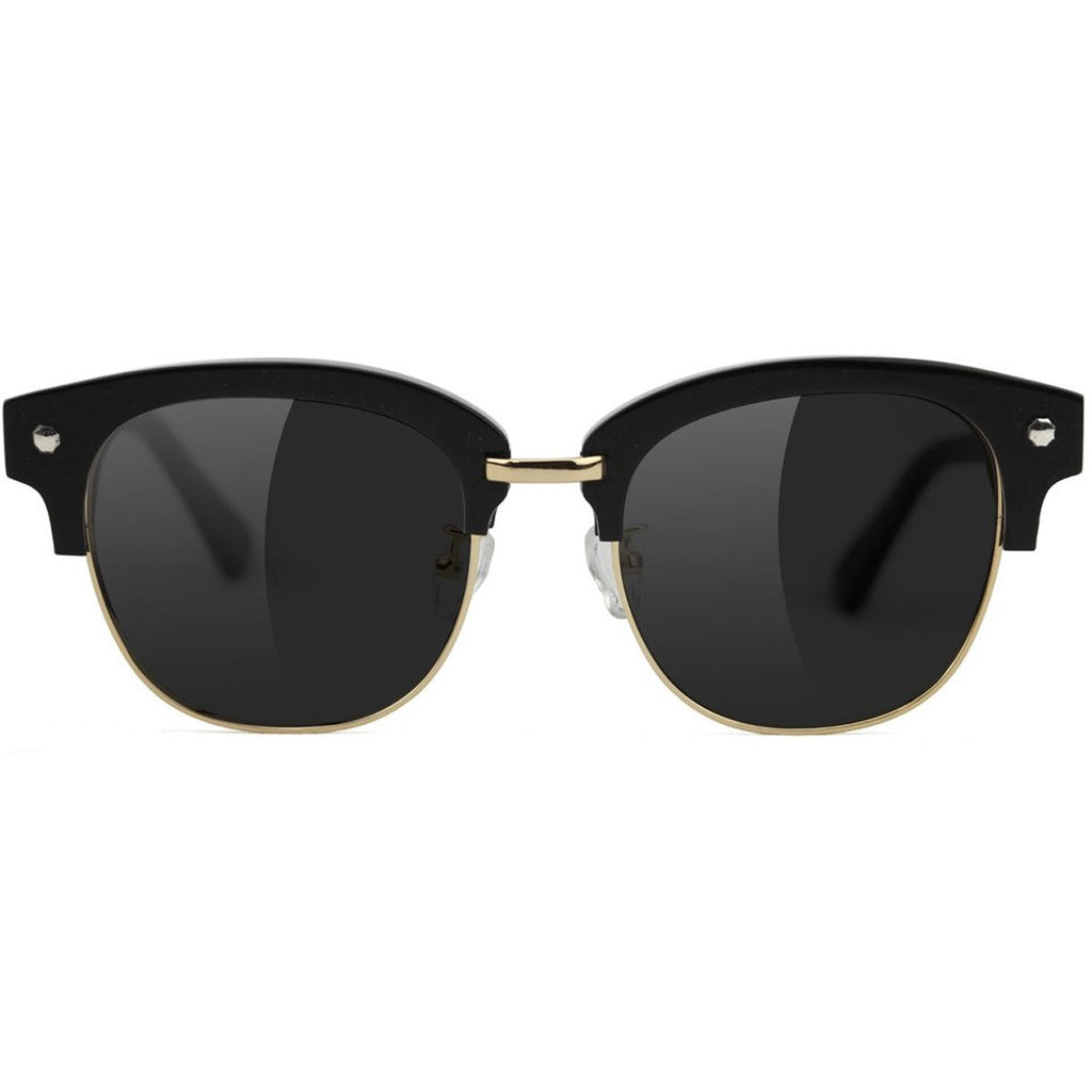 Glassy Glassy Carrie Polarized High Roller Sunglasses | Black & Gold - TVSC