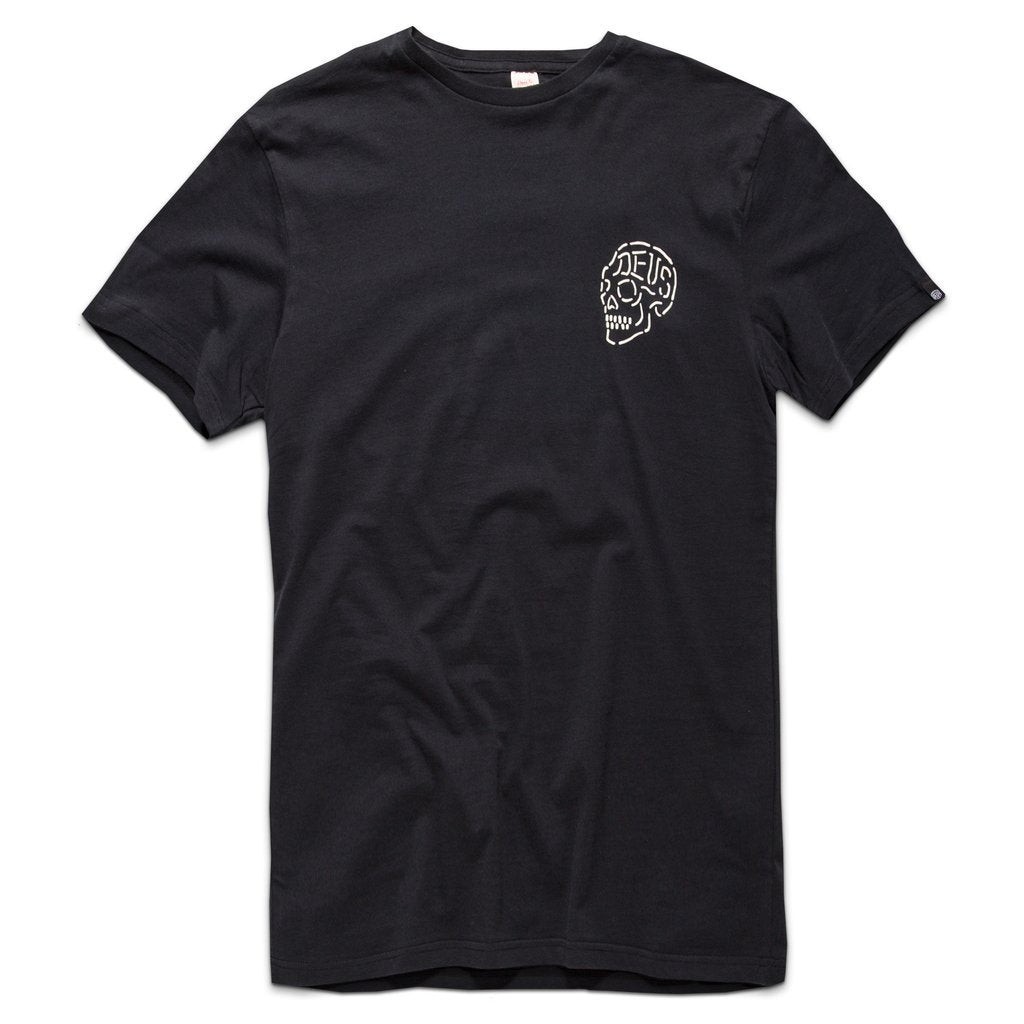 Deus Ex Machina Deus Ex Machina Venice Skull T-Shirt | Black - TVSC