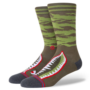Stance Warbird Infiknit Socks | Olive