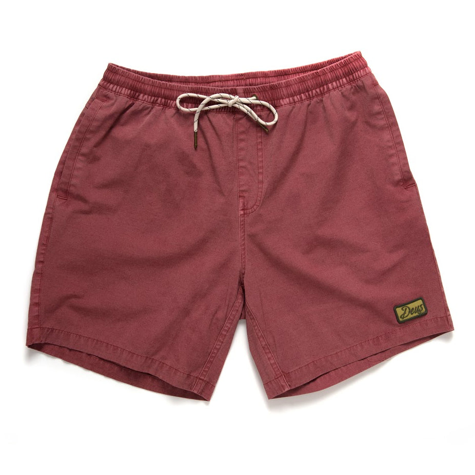Deus Ex Machina Deus Ex Machina Sandbar Solid Garment Dye Shorts | Red Ochre - TVSC