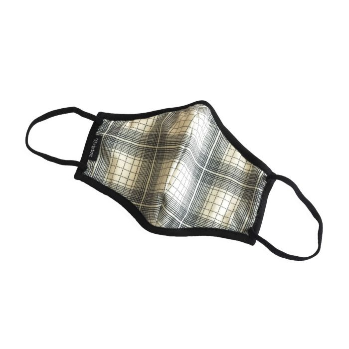 Brixton Anti-Microbial Face Mask | White Plaid