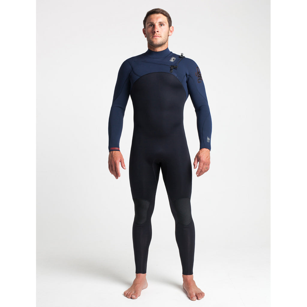 C-Skins C-Skins ReWired Mens Chest Zip GBS Steamer 3:2 Wetsuit | Black & Charcoal - TVSC