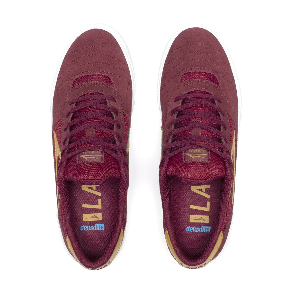 Lakai Cambridge Suede Skate Shoe | Burgundy