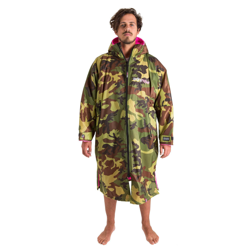 Dryrobe Dryrobe Advance Long Sleeve Changing Robe | Camo & Pink - TVSC