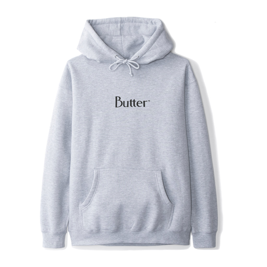 Butter Goods Butter Goods Reflective Classic Logo Hoodie | Heather Grey - TVSC
