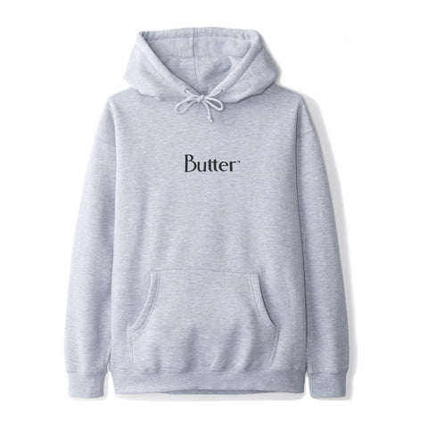 Butter Goods Reflective Classic Logo Pullover Hoodie | Heather Grey