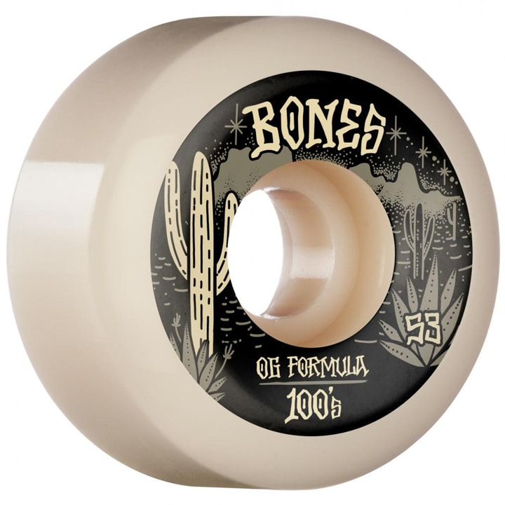 Bones 100's Desert West Wheels | V5 Sidecut 100A