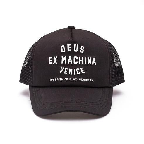 Deus Ex Machina Deus Ex Machina Venice Address Trucker Cap | Black - TVSC