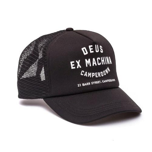 Deus Ex Machina Deus Ex Machina Camperdown Address Trucker Cap | Black - TVSC