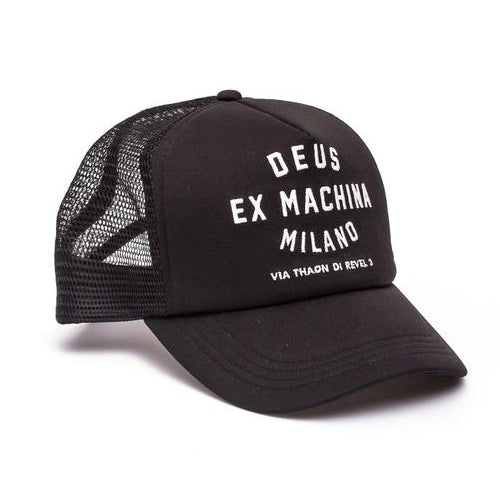 Deus Ex Machina Deus Ex Machina Milano Address Trucker Cap | Black - TVSC