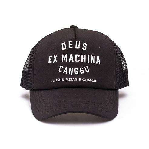 Deus Ex Machina Deus Ex Machina Canggu Address Trucker Cap | Black - TVSC