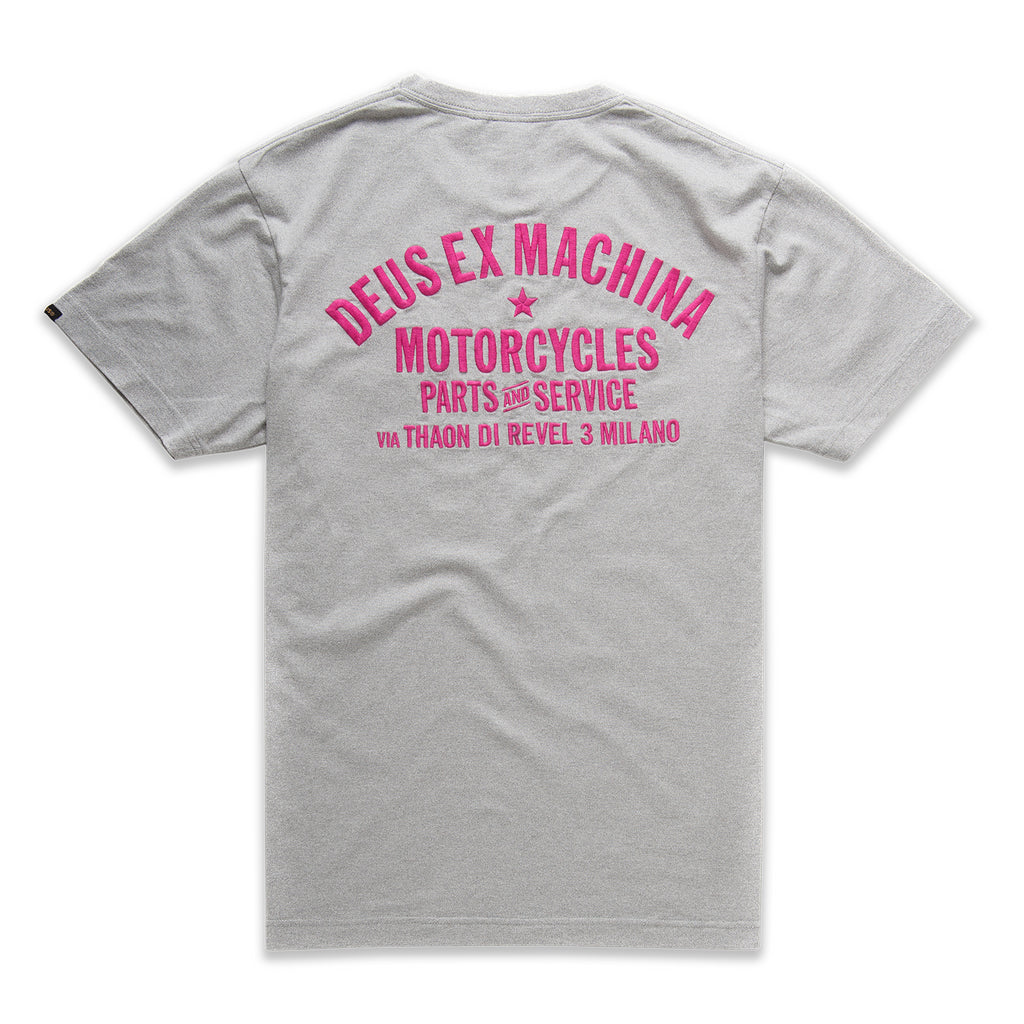 Deus Ex Machina Deus Ex Machina Premium Milano T-Shirt | Grey - TVSC